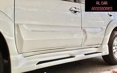 Toyota fortuner 12 14 door panel side skirt cover