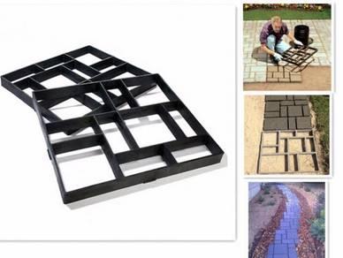 Acuan Konkrit Laluan Kaki Belgian Pattern Concrete