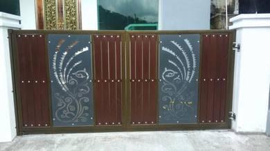Pintu pagar bunga cnc