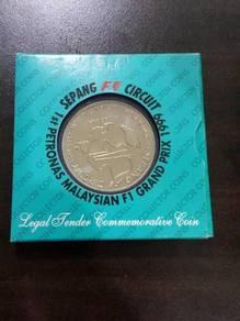 Malaysian F1 Sepang Commemorative Coin 1999