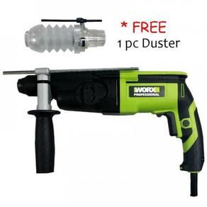 Worx WU340D Rotary Hammer 3-Mode +Free Duster
