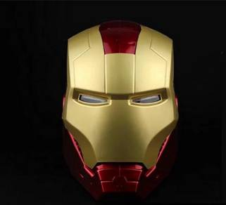 Iron Man Helmet 1/1 Eyes Glow Mask Open