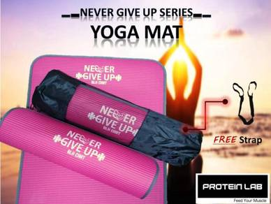 Never Give Up Yoga Mat