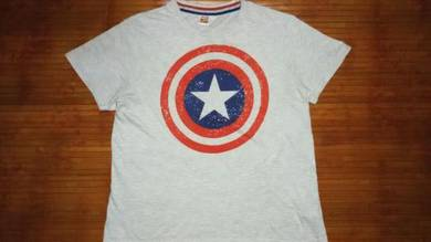 Authentic CAPTAIN AMERICA Crew Neck SzL T-Shirts