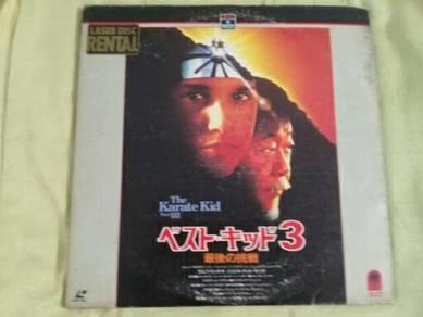 119 Laser disc THE KARATE KID 3 not lp ep