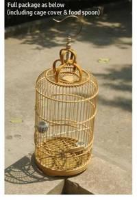 Bamboo Bird Cage, Tinggi Sangkar Burung Mata putih