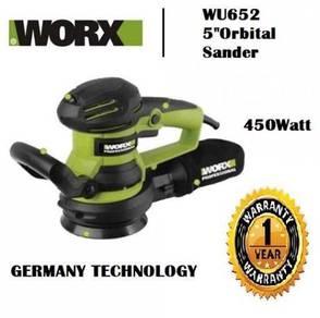 WORX WU652 450W Random Orbital Sander Corded 125mm