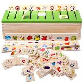 Wood Game- Knowledge Category Box for Baby and Kid