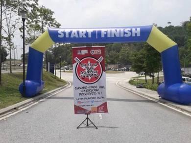 Fun run sport inflatable arch