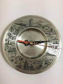 Vintage Penang Pewter Clock - Jam Dinding