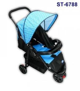 Baby buggy stroller - 3 wheels light weight st6788