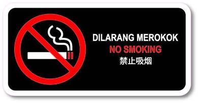 No Smoking Pvc Sticker 105x210mm