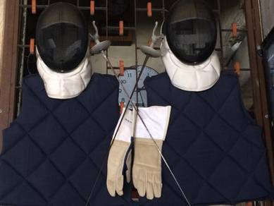 Full Set Fencing Sport Pisau Knife Mask Glove