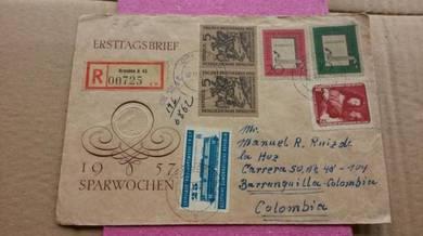 Antik Old MS German Colombia 1957 No 16