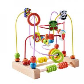 Baby Wooden Beads Animal and Fruits Giant Maze Toy