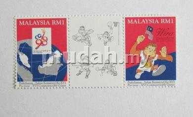 Mint Stamp Commonwealth Games Malaysia 1994