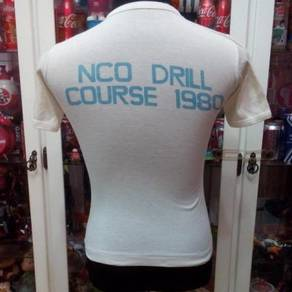 Vintage 1980s NCO DRILL COURSE Ringer T Shirt