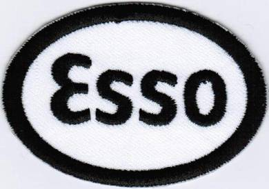 Esso WHITE Oil and Gas Motor Car Racing Patch