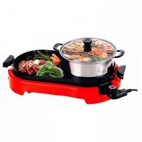 Steamboat grill 2 in 1 (red