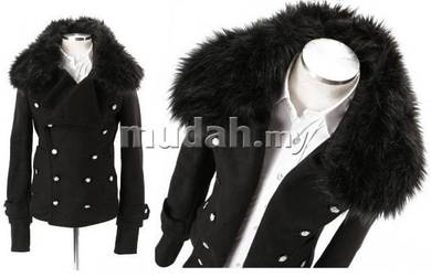 Korean Luxury Buttons Multi-Layer Breasted Coat