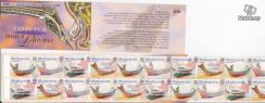 Stamp Booklet Traditional Boats Malaysia 2000