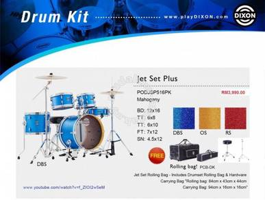 Dixon Drum Travel Set Jet Plus