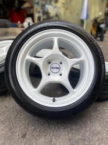 Enkei rpo1 15 inch sports rim vios tyre 70%