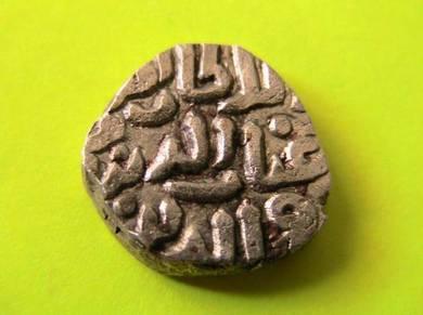 India delhi sultan-four gani -ah 722 -billon coin