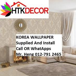 Pretty Wallcovering with Installation48AAB