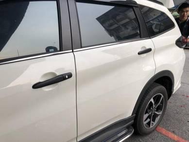 Perodua aruz door handle cover black n chrome