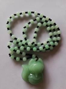 Lucky Charm - Green Fox Fairy Necklace