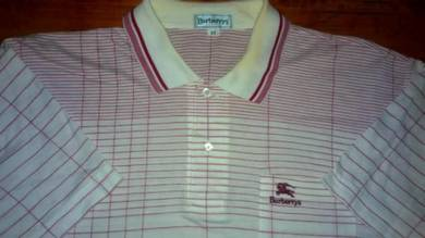Authentic BURBERRYS Full PRINT SzXL Collar Shirts