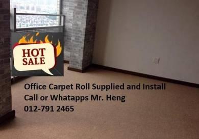 Modern Plain Design Carpet Roll With Install 4srjs