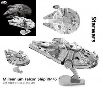 Starwars Millenium Falcon Ship DIY Model Toy