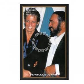 Princess Diana stamp minisheet 1997 Niger mnh D8