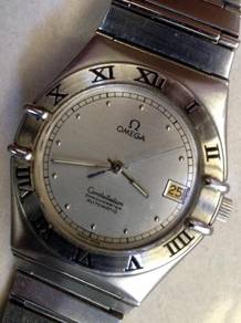 Jam Omega Constellation auto D white gold Watch