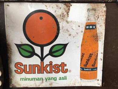 Minuman Sunkist Papan Iklan Steel Signboard