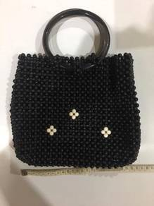 Black Bead Bag