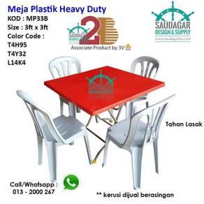 Meja plastik mamak tahan lasak 2B produk dari 3V