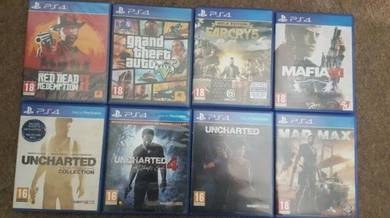PS4 Games Brand New (GTA 5, RED DEAD 2,FAR CRY 5)
