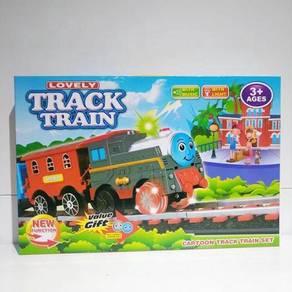Train lovely keretaapi light music toys kids
