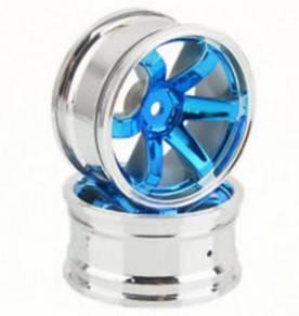 4 Pcs Plastic Wheel Rim Offset For RC 1:10 Blue