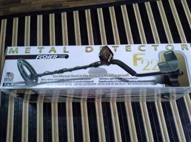 Alat pengesan logam / metal detector fisher f22