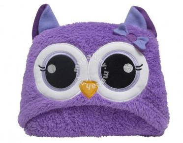 Cute Hood Baby Blanket Purple Owl