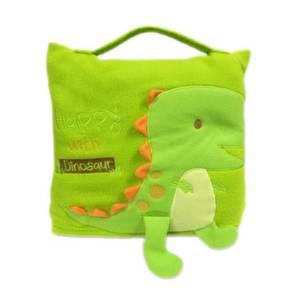 Cute Pillow Blanket for Baby Kids Green Dinosaur