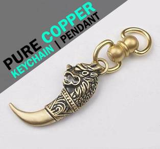 Dragon Design Copper Keychain | Keychain Tembaga
