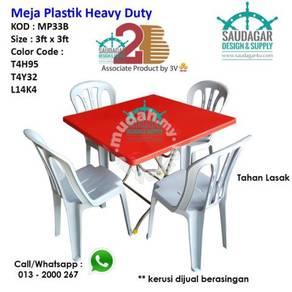 Meja plastik gerai tahan lasak 2B oleh 3V Table