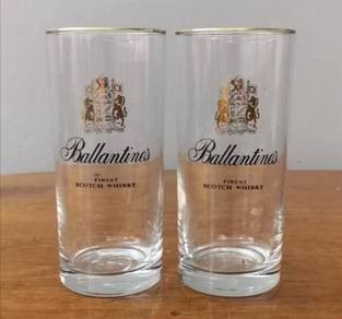 Cawan Ballantines whisky glass cup