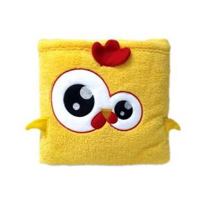 Cute Pillow Blanket for Baby Kids Yellow Chicken