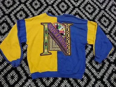 Napoleonee jeans sweatshirt embroidered logo